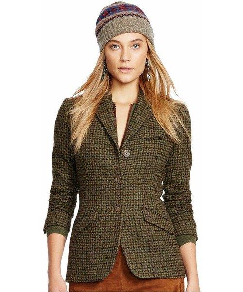 gray tweed slim fit golf jacket with green velvet mini skirt