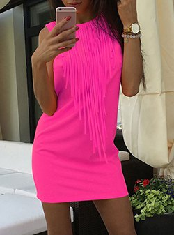 sleeveless pink mini dress with matching leisure bracelet