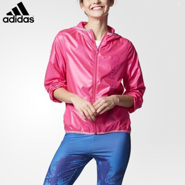 pink sports jacket with blue windbreaker