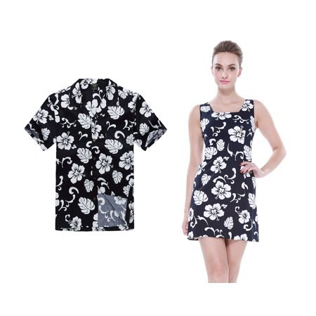 Mini shift dress with floral pattern in black and white