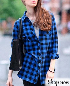 blue and black checked flannel shirt with dark skinny jeans