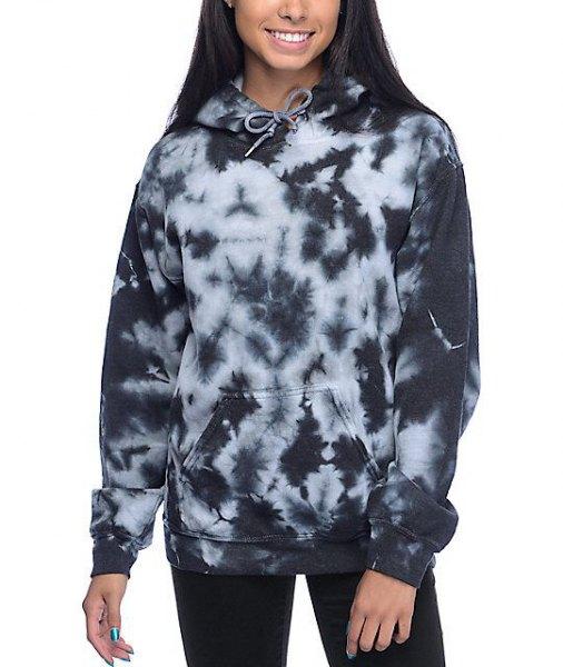 Tie dye hoodie with black slim fit jeans