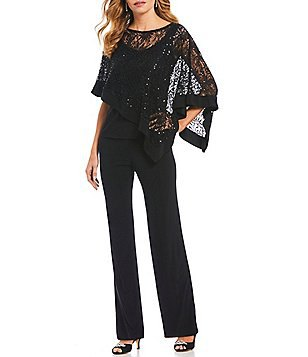 black long sleeve lace elegant blouse with chinos