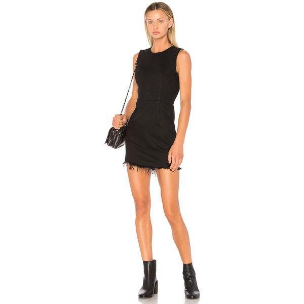 black sleeveless mini zip dress with scoop neck