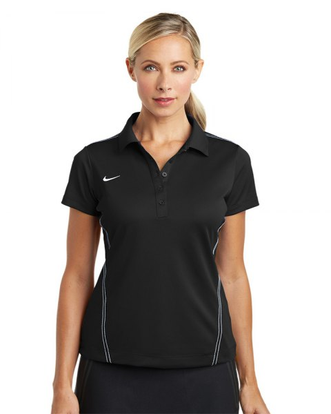 black sporty polo shirt with sweatpants