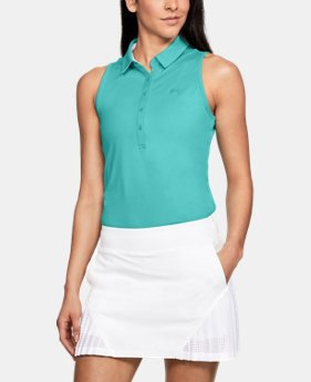 teal sleeveless top with white mini golf skirt