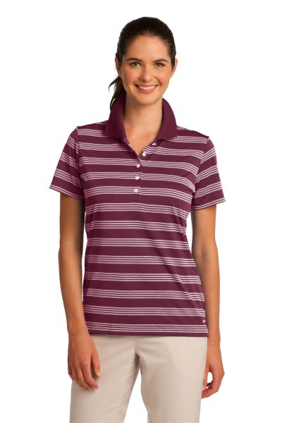 gray striped polo top with ivory slim fit trousers