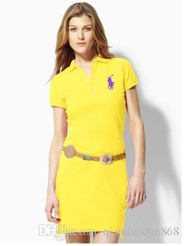 Lemon yellow slim fit polo shirt with belt
