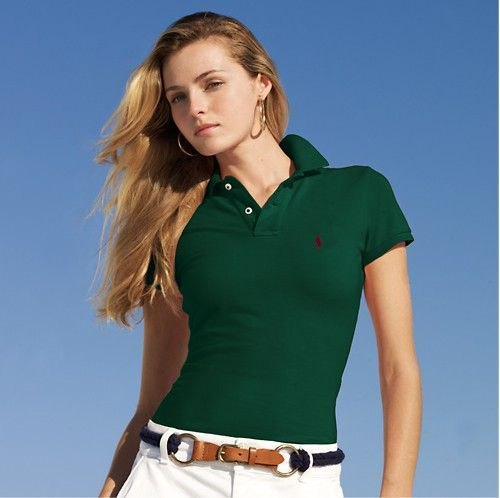 dark green slim fit polo shirt with white chinos