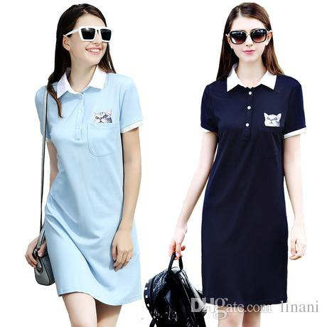 Mint green polo shirt dress with white collar