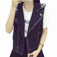 black biker jeans vest with skinny jeans