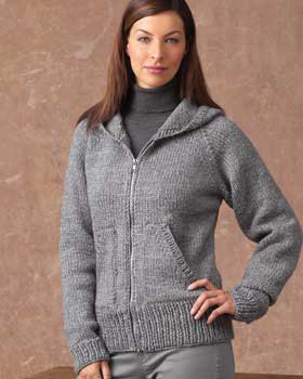 gray hooded cardigan with turtleneck