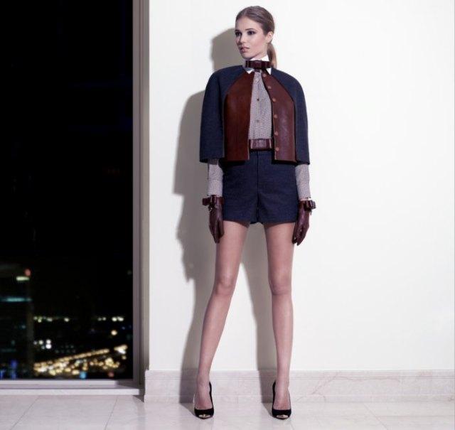 black short blazer with mini shorts