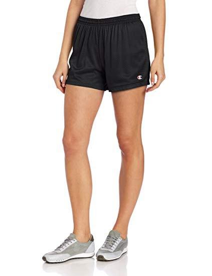 white-cut cotton t-shirt with black mini jogging pants