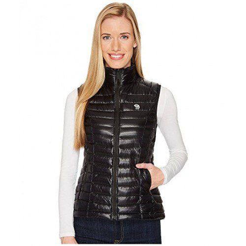 black hollow neck vest with white shape to fit long sleeve tee