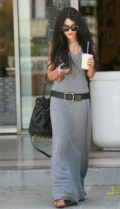 gray maxi sweater with strap shirt