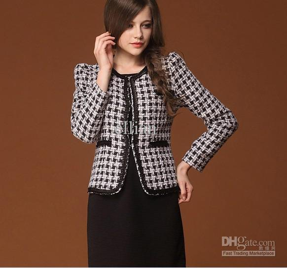 black and white checkered tweed skirt with pencil skirt