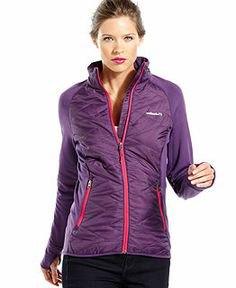 purple casual sports skirt with black nylon running pants