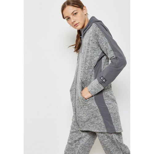 Heather gray long-line shirt with matching trousers
