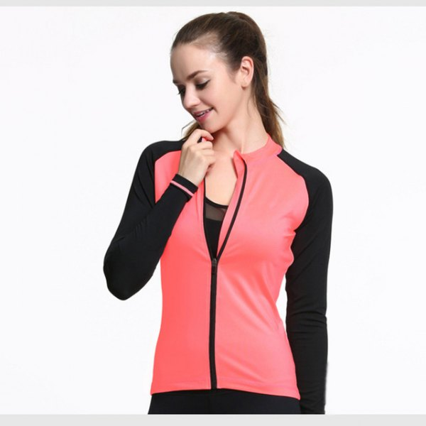 hot pink and black sports blazer with half clean bucket neck top