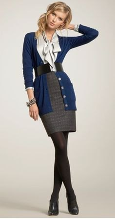 navy blue belt cardigan with gray blue of silk strap