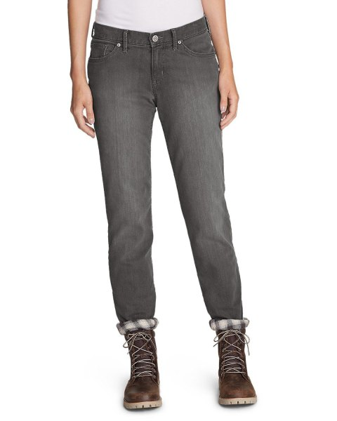 gray jeans with leather lace combat boots