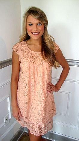 peach cap sleeve mini shift dress