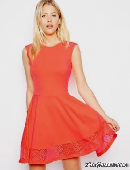 carol sleeveless fit and flare lace mini dress