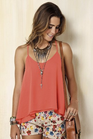 blush tank top with light pink printed mini shorts