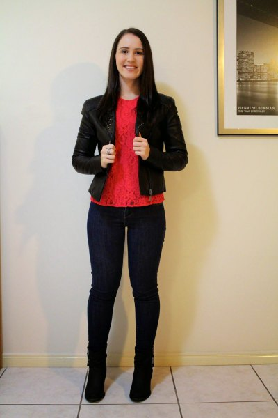 black blazer and suede boots
