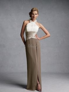 white rose gold and brown color block maxi dress