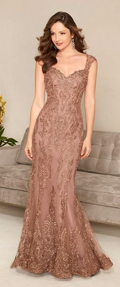 light brown lace maid maxi dress
