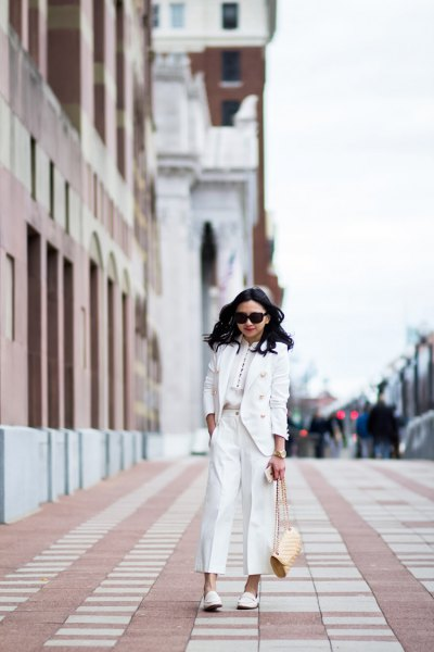 white suit with matching leather case