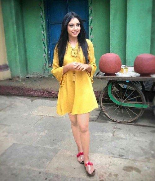 watch sleeve mustard yellow swing dress