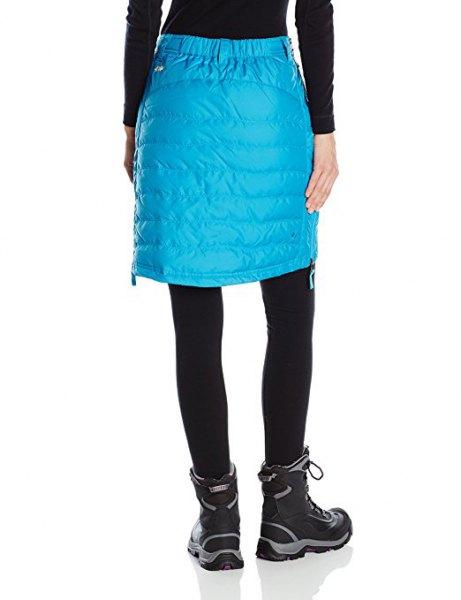 sky blue knee length skirt with black leggings