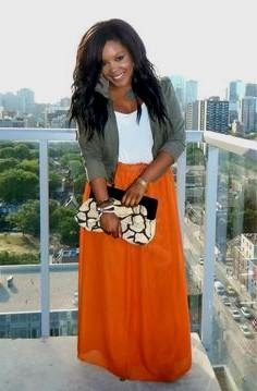 maxi dress with gray cuffed blazer