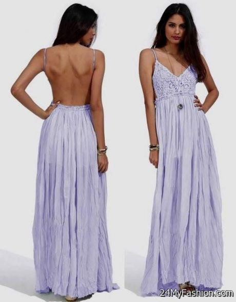 backless lavender pleated maxi dress