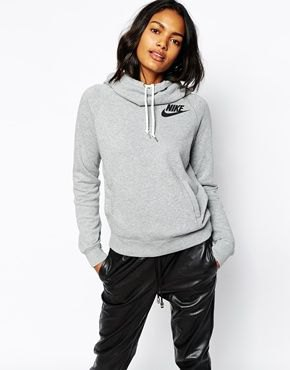 gray hoodie with black leather pants