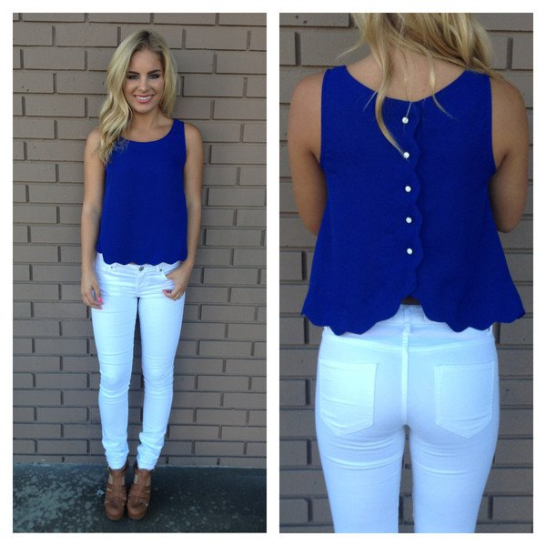 blue button up back peeled sleeve shirt