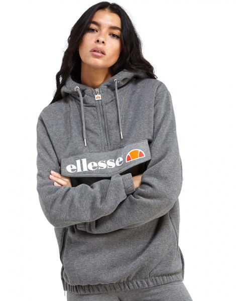gray half-length printed hood with jogging pants