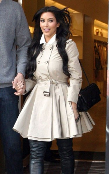 light pink mini colored trench coat dress