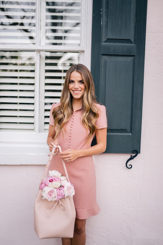 pink sundress sophisticated