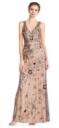 floral chiffon v-neck pleated maxi dress