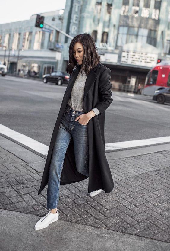 black duster skirt minimal