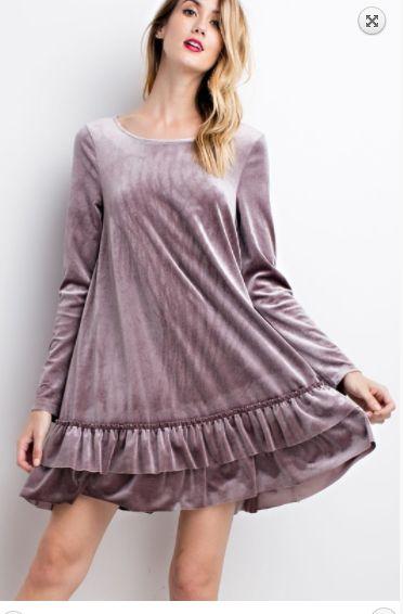 velvet tunic purple