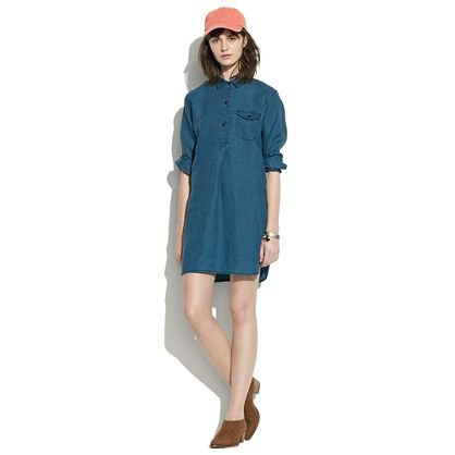 dark blue unwashed collar tunic with baseball cap