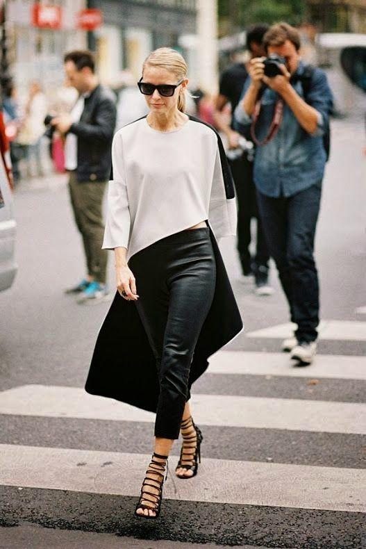 black lace heels asymmetrical