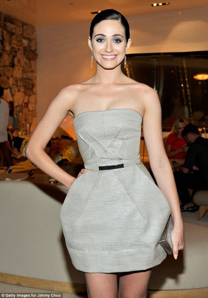 light gray strapless tulle tube dress