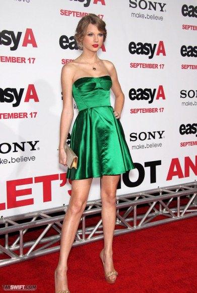 green silk tube mini skater cocktail dress