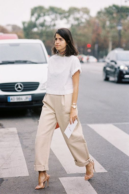 cropped wide leg pants chic casual